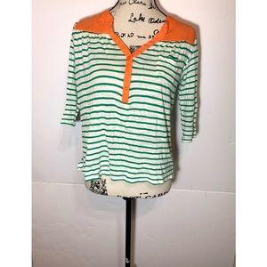 Umgee Striped Crop Top Front Pocket